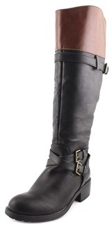 Rampage Britney Women W Round Toe Synthetic Black Knee High Boot.