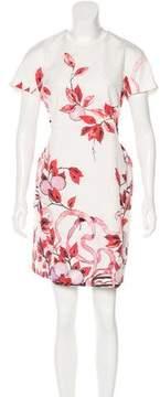 Giamba Foliage Print Jacquard Dress