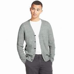 Uniqlo Men's Linen Blend V-Neck Long-sleeve Cardigan