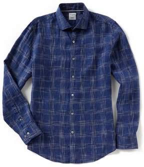 Murano Slim-Fit Space Dye Linen Long-Sleeve Woven Shirt