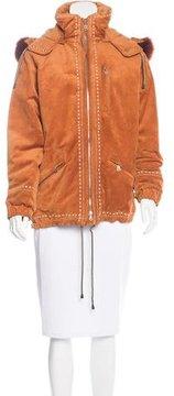 Bogner Suede Fur-Trimmed Jacket