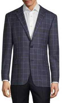 Hickey Freeman Milburn II Windowpane Sports Jacket