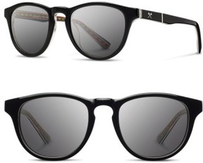 Shwood Men's 'Francis - Pendleton' 48Mm Polarized Sunglasses - Black/ Turquoise Serape/ Grey