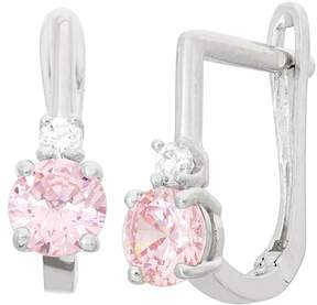 Junior Jewels Kids' Sterling Silver Cubic Zirconia U-Hoop Earrings
