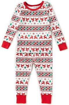 Starting Out Little Boys 2T-4T Christmas Fair-Isle Printed Top & Pants Pajama Set