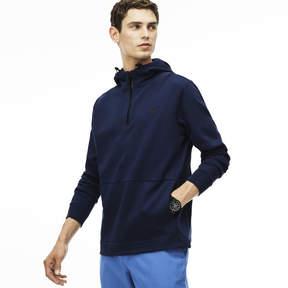 Lacoste Men's Zip Neck Back Lettering Hooded Sweatshirt