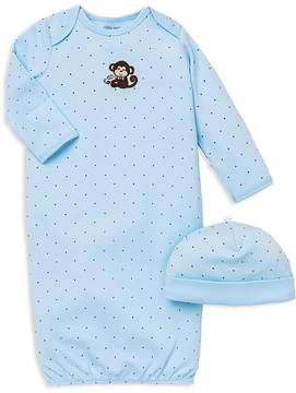 Little Me Boys' Monkey Star Gown & Hat Set - Baby