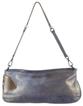 Halston Metallic Leather Shoulder Bag
