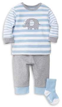 Little Me Baby's Three-Piece Top, Pants and Socks Set