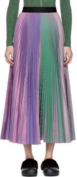 Christopher Kane Purple Two-Tone Pleated Taffeta Skirt