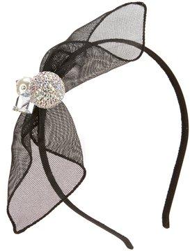 Edgehill Collection Bow/Pearl Satin Headband