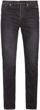 Saint Laurent Logo-embroidered slim-leg jeans