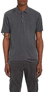 NSF Men's Distressed Cotton Piqué Polo Shirt
