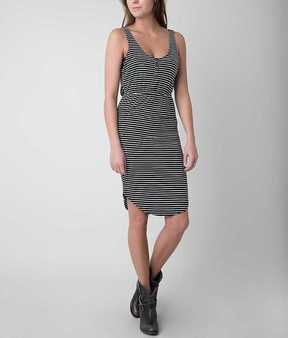 Knot Sisters Striped Henley Dress