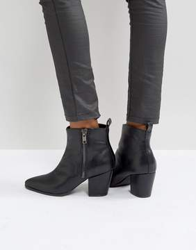 London Rebel Exposed Side Zip Boot