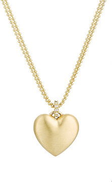 Finn Women's Puffed Heart Pendant Necklace