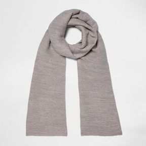 River Island Womens Grey and pink rib color block scarf