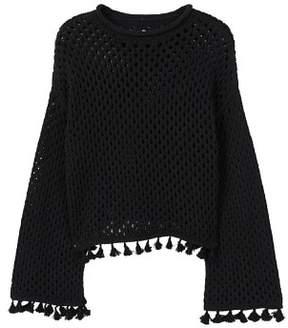 MANGO Recycled cotton openwork sweater