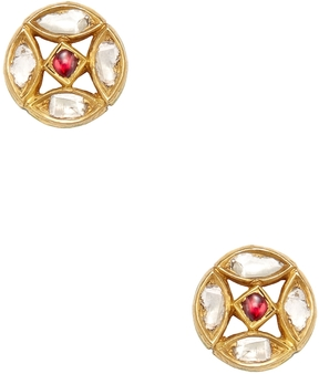 Artisan Women's 22K Yellow Gold & 0.88 Total Ct. Diamond Stud Earrings