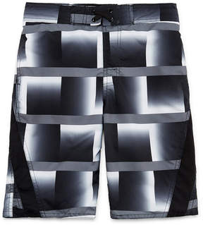 Arizona Gray Grid Swim Trunk - Boys 4-20