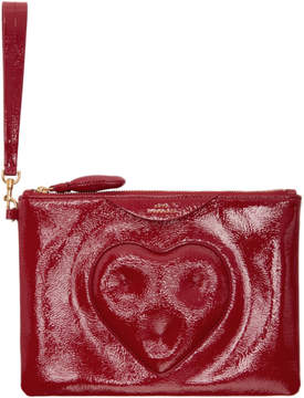 Anya Hindmarch Red Chubby Heart Pouch