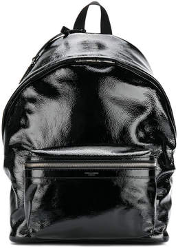 Saint Laurent patent backpack