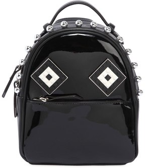 Baby Mick Mask Patent Leather Backpack