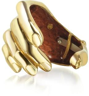 Forzieri Bernard Delettrez Hand Bronze Cuff Bracelet