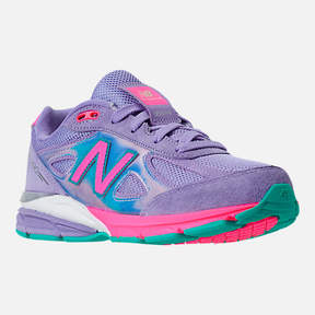 New Balance Girls' Grade School 990 V4 Running Shoes
