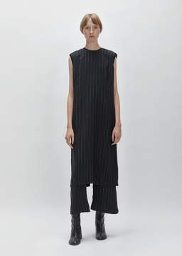 Aalto Sleeveless Cupro Stripe Dress Black/White Size: FR 34