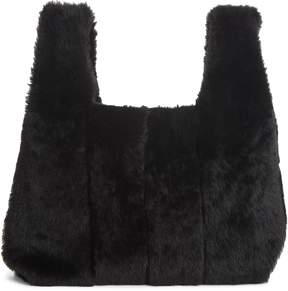 Kara Genuine Shearling Mini Shopper