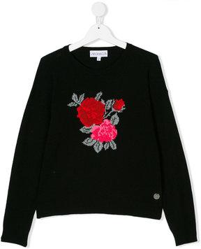 Simonetta floral intarsia sweater