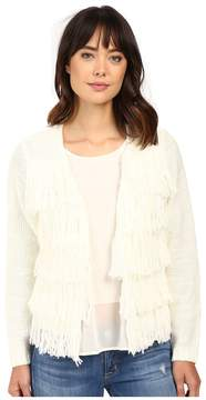 Brigitte Bailey Dharma Fringed Sweater Women's Sweater