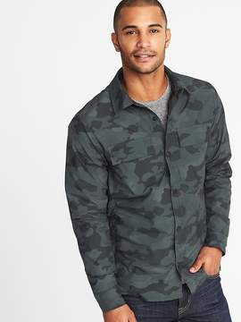 Old Navy Mesh-Lined Water-Resistant Shirt Jacket for Men