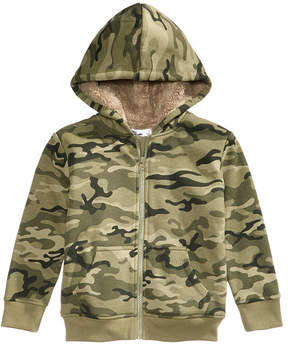 Epic Threads Fleece-Lined Full-Zip Camo Hoodie, Toddler Boys (2T-5T), Created for Macy's