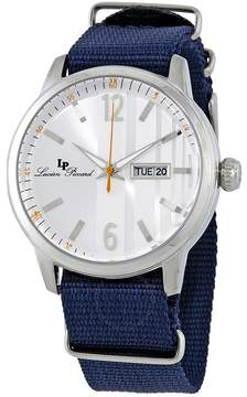 Lucien Piccard Milanese Silver Dial Men's Blue Nylon Watch