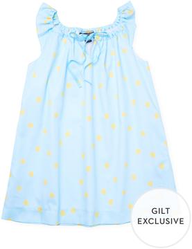 Oscar de la Renta Scattered Dots Casual Dress