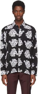 Givenchy Black Archive Flower Print Shirt