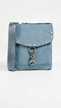 Rebecca Minkoff Nylon Flap Cross Body Bag - DUSTY BLUE - STYLE