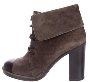 Reed Krakoff Suede Cap-Toe Ankle Boots