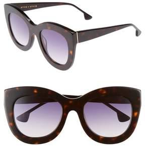 Alice + Olivia Women's Madison 56Mm Cat Eye Sunglasses - Dark Tortoise