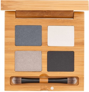 Certified Organic Eyeshadow Quattro - To The Moon and Black