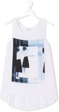 DKNY TEEN graphic print tank top