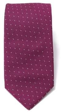 HUGO BOSS Men's 7.5cm Italian Silk Dot Prink Tie - Berry