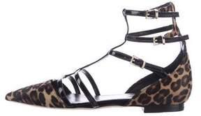 Tamara Mellon Ponyhair Pointed-Toe Sandals
