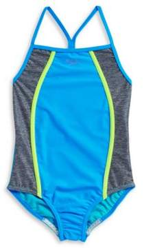 Speedo Girls Colorblocked One Piece Swimsuit