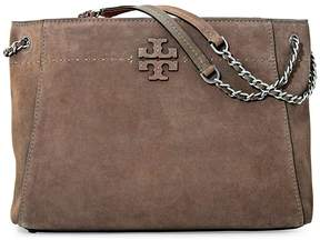 Tory Burch Mcgraw Suede Shoulder Tote - Silver Maple - ONE COLOR - STYLE
