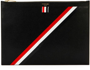 Thom Browne Medium Zip Document Holder, Black