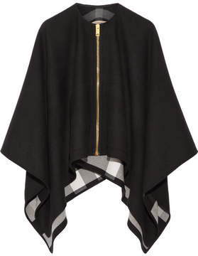 Burberry - Asymmetric Merino Wool Poncho - Black