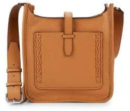 Rebecca Minkoff Boxed Pebbled-Leather Crossbody Bag - CAMEL - STYLE